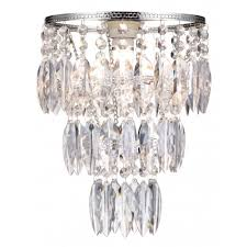 contemporary silver chrome clear acrylic drop bedroom ceiling pendant lamp shade
