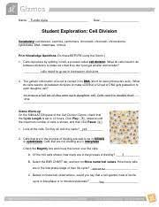 Gizmo cell division answer key vocabulary: Bl3 U2013 Ga 3 Student Exploration Worksheet Cell Division Gizmo Activity 1 2 Pdf Name Tunde Ajala Date Student Exploration Cell Division Course Hero