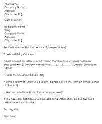 Request Employment Verification Letter Sample Employment Verification Request Letters Replies