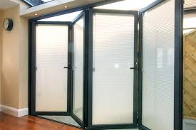 cardiff aluminium doors with integral blinds in glass