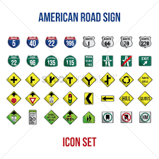 american traffic signs and meanings.  American Set Of American Road Signs Vector Graphic And American Traffic Signs Meanings A