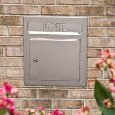 recessed stainless steel locking mailbox