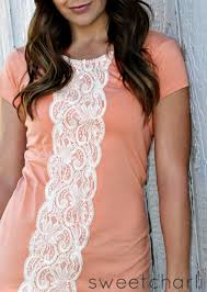 t shirt makeovers easy lace shirt diy fun upcycle ideas for tees