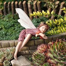 garden fairies statues. Surprising Idea Garden Fairy Figurines Nice Decoration Amazoncom Miniature Elderberry Home Amp Kitchen Fairies Statues