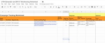 Free Utm Builder Spreadsheet Excel Google Campaigntrackly