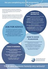 ib academic honesty policy ccps international baccalaureate  ib diploma program students are required to act responsibly and ethically throughout their years as outlined below and provided in more detail through the