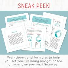 Wedding Planning Budget The Budget Savvy Wedding Planner Organizer Something Turquoise