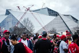 an evolving sports city atlanta chases a championship the new next season the falcons move into a new home mercedes benz stadium seen in the distance credit dustin chambers