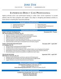 home health care resume. Direct Care Resume Example Health Care Patients