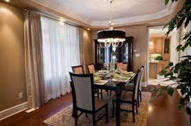 Formal Dining Room Curtains Rustic Wicker Chairs Black Wood Table - Dining room curtain designs