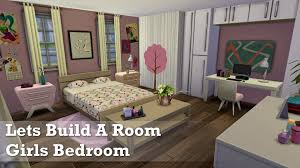 Sims Bedroom The Sims 4 Room Build Girls Bedroom Youtube