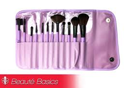 beaute basics 12 piece lavender professional brush set
