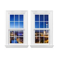 3d Wandtattoo Doppelfenster Berlin Panorama Optische Täuschung