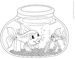 Small Picture Fish Tank Coloring Pages Coloring Pages