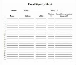 Party Sign Up Sheet Template Party Sign Up Sheet Template Fresh 13 Sign Up Sheet Samples