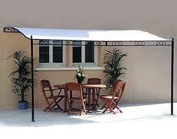 3 5 x 2 5 meter wall mounted metal frame pergola canopy awning co uk garden outdoors