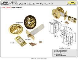 picture of 15213pk1 1 3 8 latch pocket door lock set