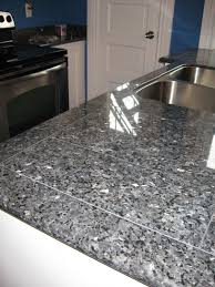 Granite Tiles Kitchen Countertops Granite Tile Countertop In Blue Pearl By Lazy Granite Affordable
