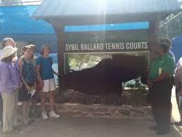 Tennis courts named after Sybil Ballard