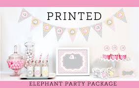 Elephant Baby Shower Invitation Printable Digital File OrElephant Themed Baby Shower For Girl