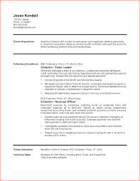Collector Resume Examples Collections Resume Sample Prepasaintdenis 8