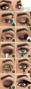 navy and purple smokey eye makeup tutorial