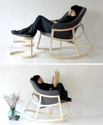 contemporary rocking chair the minimal design of this modern rocking chair makes it the perfect addition