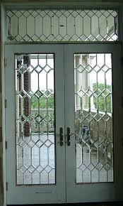 beveled glass entry doors leaded front contemporary exterior stained melbourne