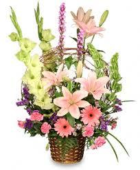 Basket of Memories <b>Floral</b> Arrangement in Islip, NY - Elegant ...
