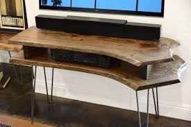live edge tv stand. Fine Stand Live Edge Slab Mid Century TV Stand In Tv L