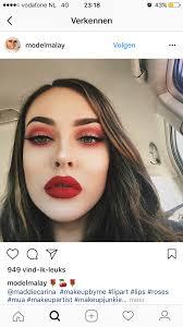 red eyeshadow makeup art makeup inspo makeup ideas eye makeup hair makeup makeup addict gorgeous makeup glam hair