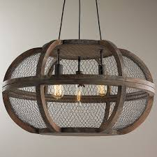 Rustic Wooden Cage Chandelier Shades Of Light
