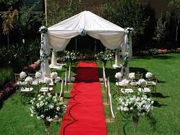 Pretty setup for a small backyard wedding