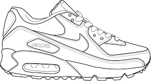 Small Picture shoe coloring page
