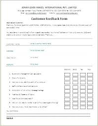 Feedback Forms In Word
