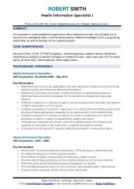 Patient Chart Review Example Health Information Specialist Resume Samples Qwikresume