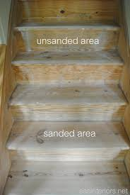 Carpet To Hardwood Stairs Staircase Makeover Filling Holes And Staining Treads Jenna Burger