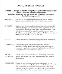 Awesome Example Basic Resume Contemporary - New Coloring Pages ...