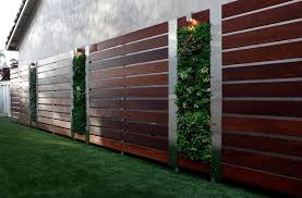 Small Picture stain fence landscape contemporary with vertical garden design san