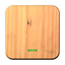 Выключатель 1-клавишный подсвет. Ясень Шнайдер