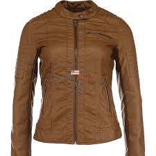 brown soft leather jacket for women