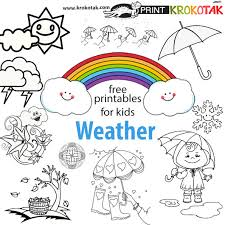 Small Picture krokotak WEATHER Coloring Pages