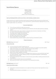 Sample Social Work Resume Objectives Social Work Resume Objective