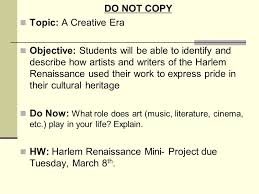 a creative era chapter section do not copy topic a do not copy topic a creative era objective students will be able to identify