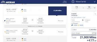 Aeroflot Award Chart Aegean Miles Bonus Business Class Awards Compared To United