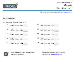 LCM of Fractions : Educational Articles | Edugain GlobalPractice LCM of Fractions