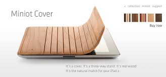 ipad 2 wood cover miniot