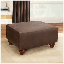 oversized leather ottoman.  Leather Amazoncom Sure Fit Stretch Leather  Ottoman Slipcover Brown SF37322  Home U0026 Kitchen And Oversized E