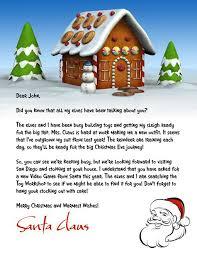 Letter From Santa Template Word Letter 1 Letter 2 Letter 3 Letter
