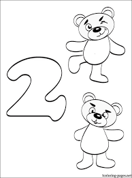 Small Picture Number 2 Two coloring page Coloring pages